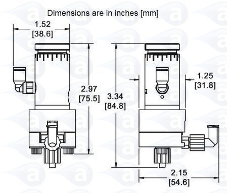 Air Operated Vertical Delrin Diaphragm Valve TS5624DMP